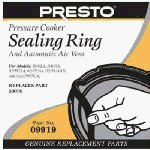 Presto Pressure Cooker Sealing Ring/Automatic Air Vent Pack (3 & 4 Quart) from Presto