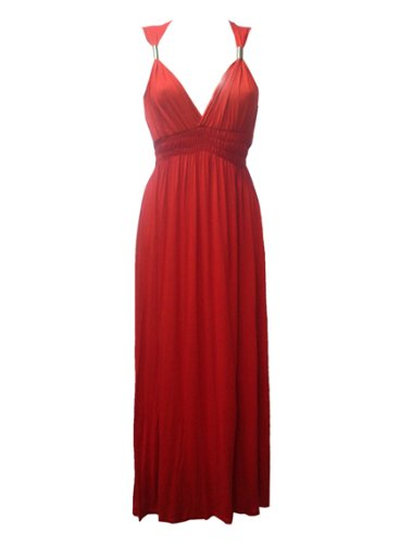NEW SPRING MAXI DRESS SUMMER WEAR RED SIZE 14