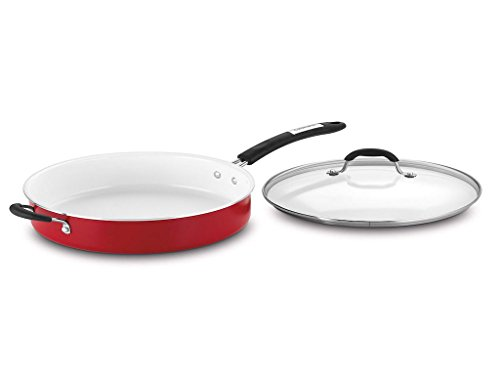 Cuisinart Aluminum 5.5 Quart Saute Pan (Red)
