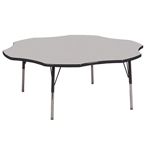 Ecr4kids 60 flower shape activity table toddler legs w swivel glides gray top black edge - Table glides for legs ...