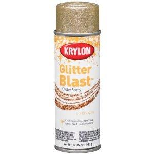Krylon K03801 Glitter Blast, Golden Glow