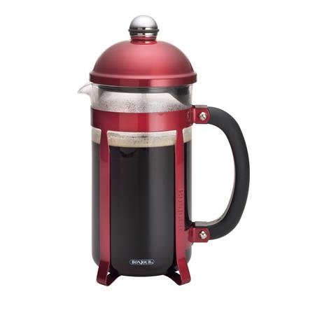 Bonjour 8-Cup Maximus French Press, Candy Apple Red front-624145