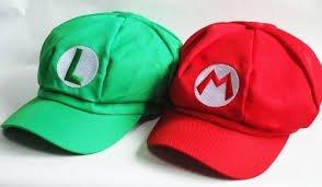 スーパー マリオ ルイージ 風 帽子 2個セット コスチューム用小物 フリーサイズ