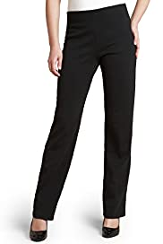 Slim Leg Pull On Jersey Ponte Trousers