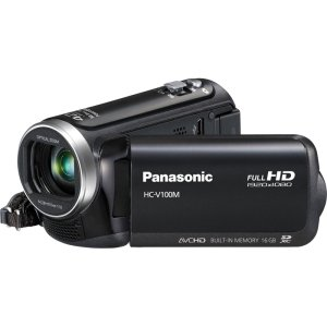 Panasonic V100m 42x Intelligent Zoom Sd Camcorder With 16gb Built In Memory Black