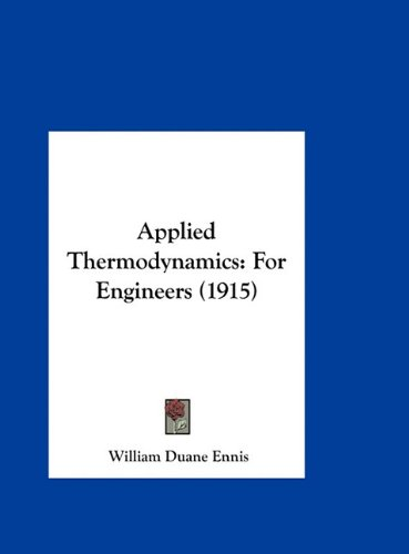 Applied Thermodynamics for Engineers