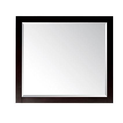 Lexington Mirror in Light Espresso Finish, 36-Inch by 32-Inch