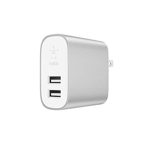 2台のデバイスに同時に高速給電可能「belkin BOOST CHARGE USB充電器 -2口/24W-」