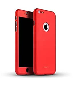 Premium High Quality 360 Degree All-round Protective Slim Fit Case Cover for Apple iPhone 6S - (Red)