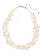M&S Collection Freshwater Pearl Cluster Necklace