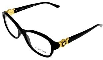 7f3ff0f78ea www.lesbauxdeprovence.com Versace Prescription Eyeglasses Frame Women  VE3185 GB1 Rectangular  Clothing