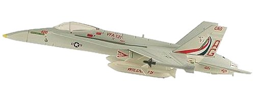 F/A-18C Hornet VFA131 Wildcats Aircraft Built-Up Die Cast 1-150 Model Power - 1