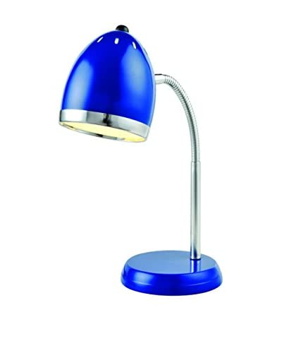 Lite Source Zachary Desk Lamp, Blue/Chrome
