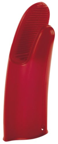 Orka 17-Inch Silicone  Barbecue Mitt, Red