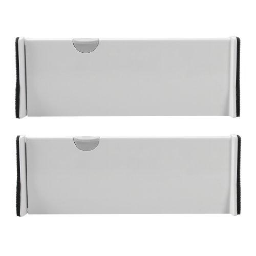 OXO Tot Expandable 2 Pack Dresser Drawer Divider, White