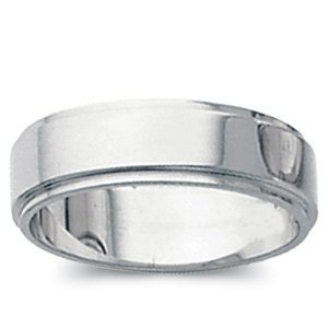 Genuine IceCarats Designer Jewelry Gift 14K White Gold Wedding Band Ring Ring. 05.00 Mm Flat Edge Band In 14K Whitegold Size 11.5