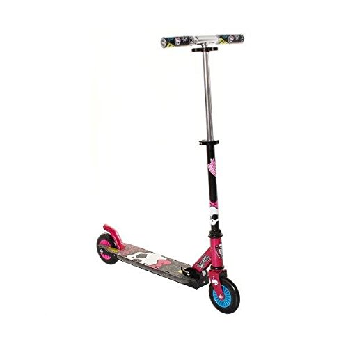 Monster High Scooter with Flash Light, Black/Pink/Blue, 5-Inch