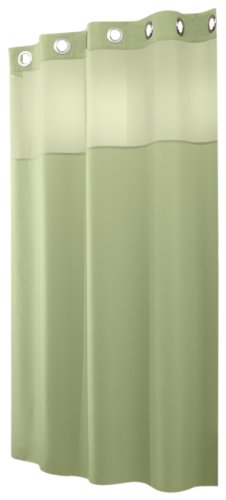 Low Price Hookless Mystery 71 Inch By 74 Inch Shower Curtain Sage N2536vtn