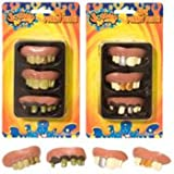 FUNNY TEETH 3 Party Favors Pirates Costume Halloween- DESIGNS MAYVARY SLIGHTLY