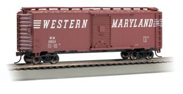 Bachmann Trains Western Maryland (Speed Lettering) #25124 40' Box Car-Ho Scale