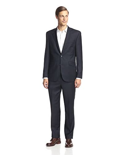 Kenneth Cole New York Men's Two Button Tic Weave Suit