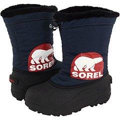 Cheap Sorel Kids Snow Commander (Youth) | Boys Shoes Columbia Navy/Chili (NY1806-425)