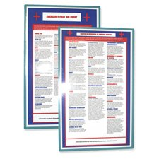 Tatco Products - First Aid Guide, Laminated, Bilingual, 8-1/2