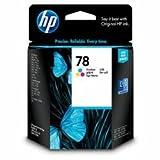 HP C6578D#301 - 78 - Yellow, cyan, magenta - original - ink cartridge - for Color Copier 310, Deskjet 12XX, 38XX, Fax 12XX, Officejet 51XX, g85, k60, v30, psc 920