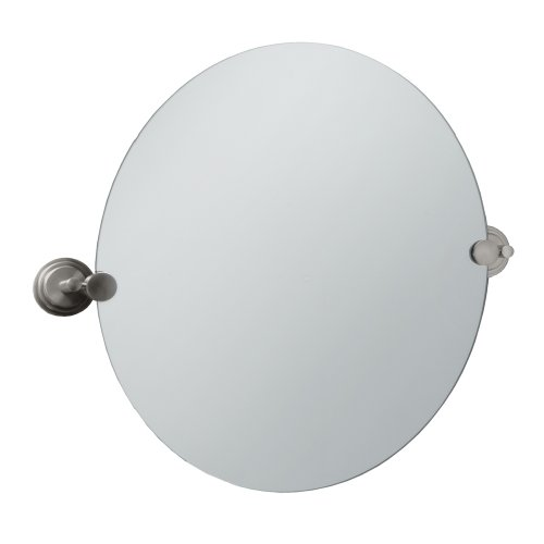 Gatco 5859R Marina Round Wall Mirror, Satin Nickel