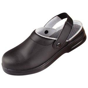 Black Unisex Safety Clogs Size: 47. Uk Size 12. Machine Washable.