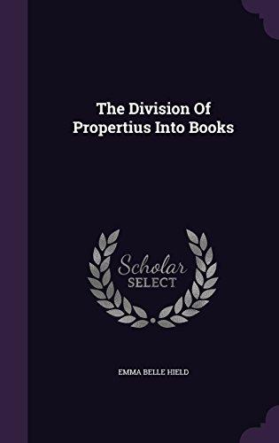 the-division-of-propertius-into-books