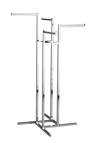 Econoco Heavy Duty 4-Way | Straight Arms, Square Tubing (Round Garment Rack compare prices)