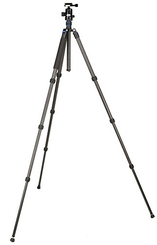 Davis-Sanford-TR654C-36-Traverse-Carbon-Fiber-4-Section-Grounder-Tripod-with-Head-Black