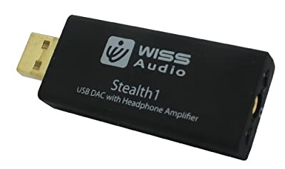 Wiss Audio USB DAC With Headphone Amplifier for Smartphones - Retail Packaging - Black
