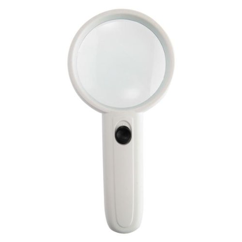 Handheld 4X Jeweler Eye Loupe Magnifier Magnifying Glass With Led Light White