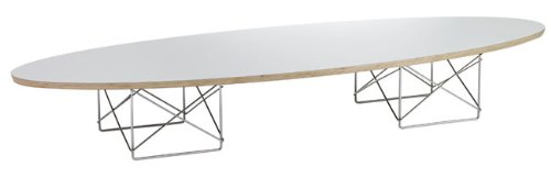 Elliptical Surfboard Coffee Table - White