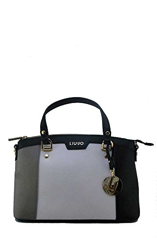 LIU JO SHOPPING BAG N66145E0003-A3163 Tortora/tr champ/bla