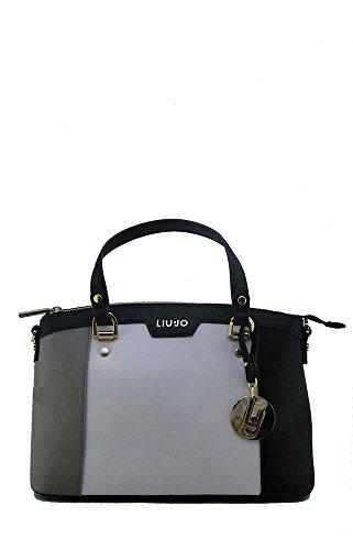 LIU JO SHOPPING BAG N66145E0003-A3163 Tortora/tr champ/bla