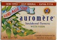 Sandal Turmeric Soap Auromere Ayurvedic Products 2.75 oz. Bar Soap (Vicco Turmeric Cream compare prices)