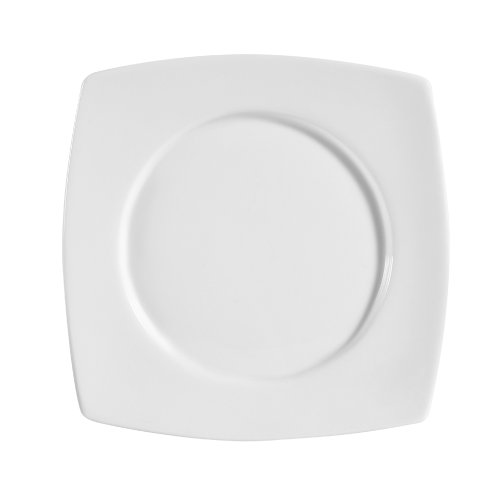 Cac China Rcn-Sq6 Super Porcelain Round-In-Square Plate, 6-7/8-Inch, White, Box Of 36