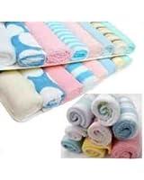 Just4baby Lot de 8 serviettes de bain douces pour bébé