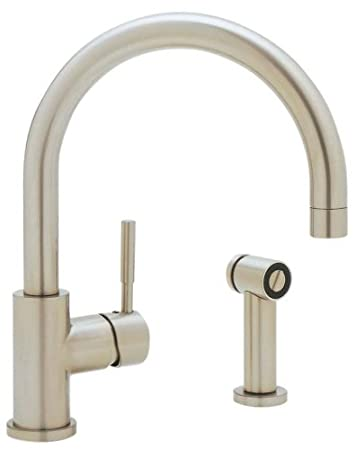 Blanco 440008 Meridian Single Lever Kitchen Faucet with Metal Side Spray, Satin Nickel