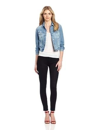 MiH Jeans Women's Denny Shrunken Classic Denim Jacket, Billy Blue, Small