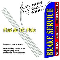 Brake Service Feather Banner Flag Kit (Flag & Pole)