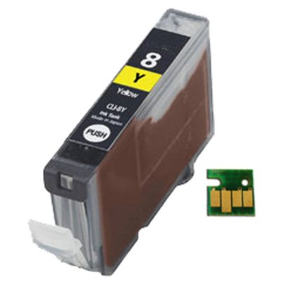UCI CI CLI8Y [ 1 x Yellow ] Kompatibel Tinte Patronen Ersatz For CANON Pixma iP3300, iP3500, iP4200, iP4300, iP4500, iP5100, iP5200, iP5200R, iP5300, iP6600D, iP6700D, iX4000, iX5000, MP500, MP510, MP520, MP530, MP600, MP600R, MP610, MP800, MP800R, MP810, MP830, MP950, MP960, MP970, MX700, MX850, Pro 9000, Pro 9000 Mark II, Drucker, CLI8Y,
