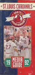 St. Louis Cardinals 1992 Media Guide at Amazon.com