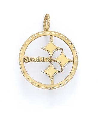 14k Pittsburgh Steelers Pendant - JewelryWeb