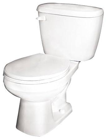 National 21762 Gerber Maxwell Elongated Toilet Bowl, White
