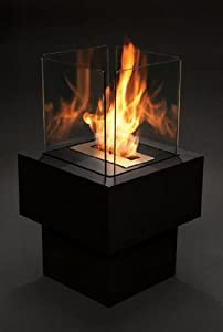 alto freestanding outdoor decorative bio ethanol fire contemporary biofuel garden fire. Black Bedroom Furniture Sets. Home Design Ideas