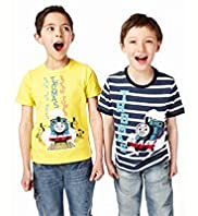 2 Pack Cotton Rich Thomas & Friends T-Shirt